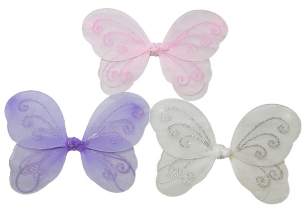 301a0f6e60 12 x Girls Kids Fairy Wings Butterfly Fancy Dress Up Costume Party Wedding  Small