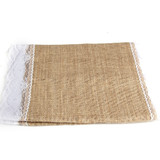 220cm x 30cm Burlap Table Runner Hessian Lace Rustic Wedding Decoration