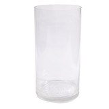Bulk Lot 6 x Clear Glass Vases Cylinder 30CM x 15CM Wedding Event Table Deco