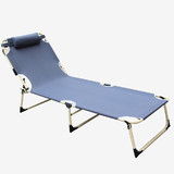 Folding Reclining Sun Bed Lounge Tanning Pool Outdoor Camping Chair Seat