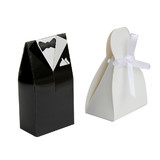 Bulk Lot x 200 pcs Bride Groom Wedding Bridal Favour Bomboniere Candy Boxes Gift