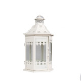 6 x White Metal Antique Moroccan Candle Lantern Hanging Table Wedding