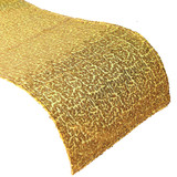 10 x Gold Sequin Table Runner 270x30cm Wedding Party Decor