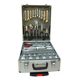 BN 186pcs Hand Tool Kit Toolbox Set Screwdriver Socket Ratchet Aluminium Trolley Case