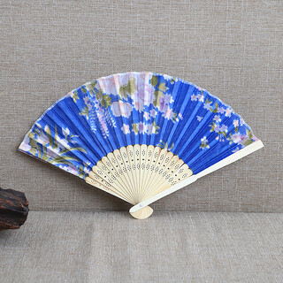 24 x Silk Flower Folding Fan Mixed