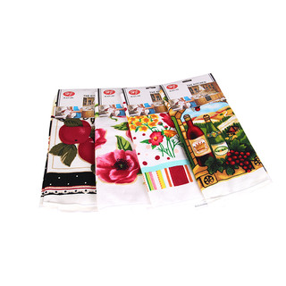 12 x Kitchen Towel Microfibre, Assorted Patterns