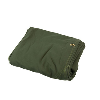 Heavy Duty Canvas Tarp Tarpaulin 16' x 16' 16oz Waterproof Green