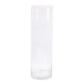 6 x Clear Glass Vases Cylinder 50CM x 15CM Wedding Event Table Deco Bulk Lot