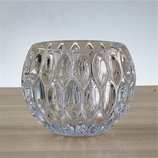 12 x Crystal Glass Tealight Votive Candle Holders Balls Wedding