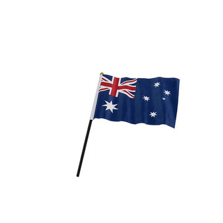 72 x Small Australian Flag Hand Held Waver 21x14cm