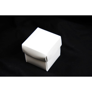 100 x White 5x5cm 2pc Wedding Bomboniere Boxes Favour Favor Party Gift Decoration
