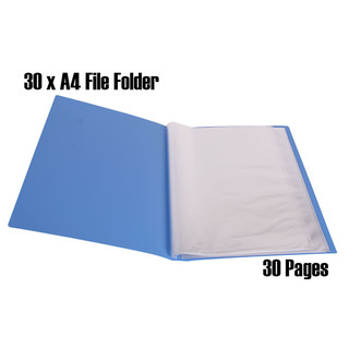 Bulk Lot x 30pcs Multi Color A4 File Display Book Folders 30 Page/Sheet