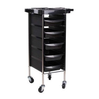 5 Tiers Hairdresser Hairdressing Salon Trolley Spa Multifunction Trolley Cart