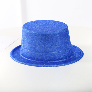 BN COLORFUL GLITTER PARTY FUN FANCY TOP HAT Blue