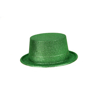 BN COLORFUL GLITTER PARTY FUN FANCY TOP HAT Green