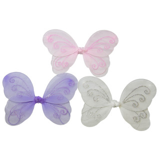 12 x Girls Kids Fairy Wings Butterfly  Fancy Dress Up Costume Party Wedding Small
