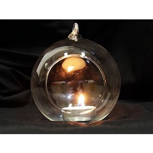 20 x Hanging Ball Clear Glass Candle Holder 10cm Bulk Lot Wedding Event Function