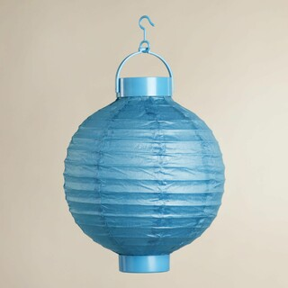 12 x Blue Battery Operated Paper Wedding Party Lantern 8''/20CM