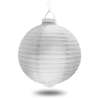 12 x White Battery Operated Paper Wedding Party Lantern 8''/20CM