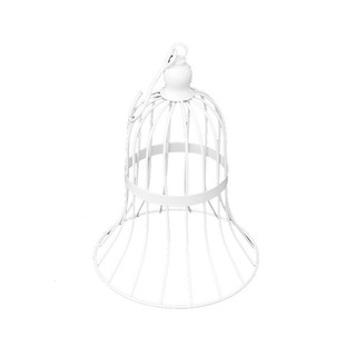 12 X White Wedding Bird Cage Bell Metal Candy Favor Gift Decoration
