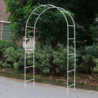 235cm White Metal Decorative Arch For Garden Wedding Prom