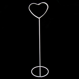 20 x White Heart Place Card Table Number Sign Ring Holder Stand Wedding Event