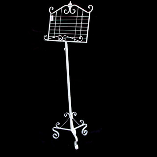 133cm French White Music Book Menu Stand Wedding Cast Iron