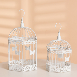 Set of 2 Wedding Bird Cage Card Keeper Wishing Well Decoration Centrepiece