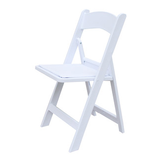 4 x White Wedding American Chair Foldable All Weather Outdoor