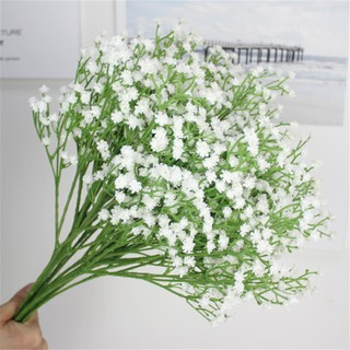 36 x White Artificial Baby's Breath Silk Flower Fake Gypsophila Wedding