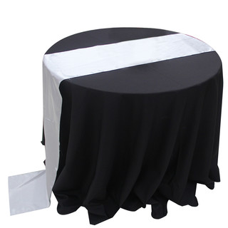 10 x Silver Satin Table Runner Chair Cover Sash Ribbon Roll Wedding Decor