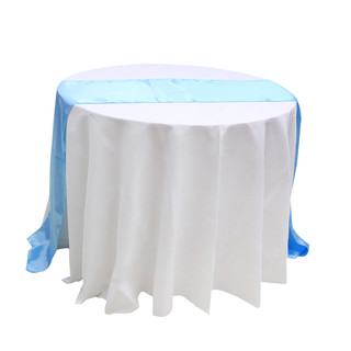 10 x Light Blue Satin Table Runner Chair Cover Sash Ribbon Roll Wedding Decor