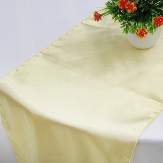 10 x Gold Satin Table Runner Chair Cover Sash Ribbon Roll Wedding Decor