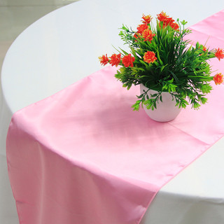 10 x Baby Pink Satin Table Runner Chair Cover Sash Ribbon Roll Wedding Decor