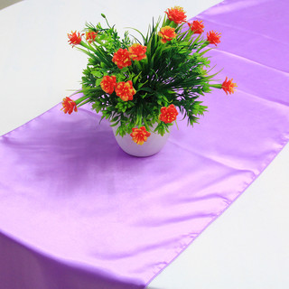 10 x Lavender Satin Table Runner Chair Cover Sash Ribbon Roll Wedding Decor
