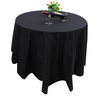 Bulk Lot 10 x 320cm Black Round Tablecloths Wedding Event Party Function Decoration