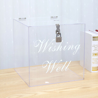 Clear Wedding Wishing Well Acrylic Money Gift Card Box