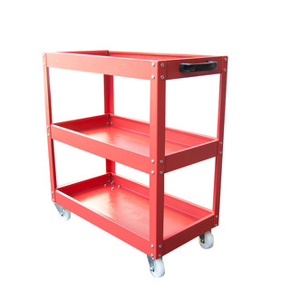 3 Tier Level Red Trolley Tool Cart Trolley Storage Tray Mechanic