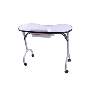 Portable Foldable Nail Artist Manicure Table With Pull Out Drawer
