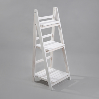 White Wooden 3 Tier Plant Stand Rack Shelf