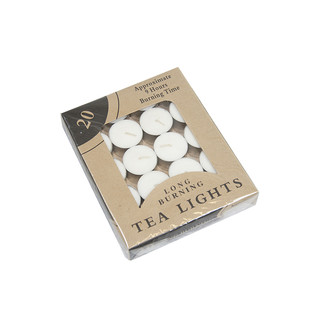 Bulk Lot x 640 White 9Hours Tealight Candle Wedding Party