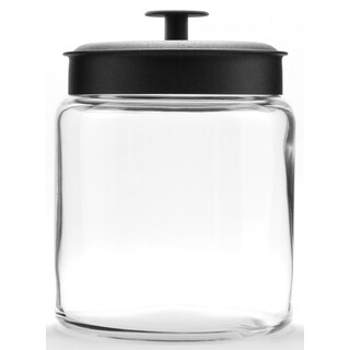 2 x Anchor Hocking Montana Jar with 1.9L Black Lid