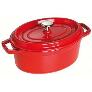 New 31cm Staub Cookware Cocotte Oval 5.4L Cherry Red