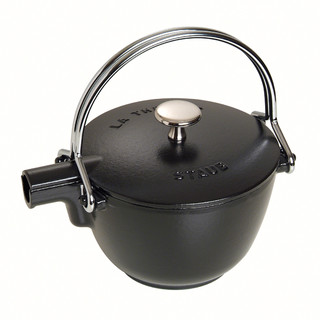 New Staub Round Round Teapot With Tea Infuser 1.15L  Black